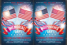 Independence Day Flyer Memorial Independence Day Flyer Flyer Templates Creative Market 1