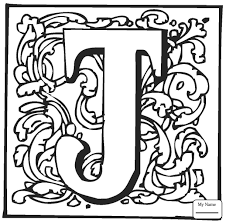 coloring pages letter d with ornament english alphabet with ornaments  letters and alphabet
