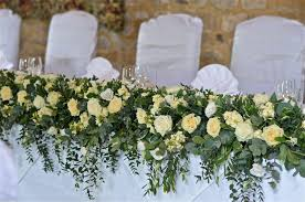 Top table wedding arrangement | flower design | Pinterest | Wedding  arrangements, Weddings and Wedding