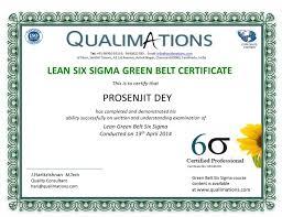 Six Sigma Green Belt Black Belt Training Certification Qa Qc