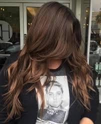 Layered long brunette hair for teens