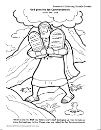Awesome Ten Commandments Coloring Sheets Design Gallery 3210 For