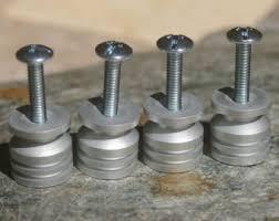 DIY Stone Cabinet Knob Kit - Brushed Aluminum Base - Set of Four, Make your