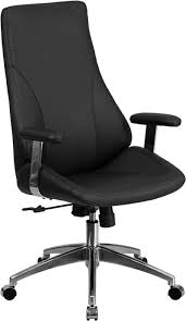 contemporary leather high office chair black. Contemporary Office Chair, High Back Design, Built-In Lumbar Support, 2- · Black Leather Chair M