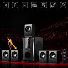 Dàn Loa Gia Đình Cao Cấp Enkor 5.1 H3811B Kết Nối 3.5mm/Bluetooth/USB/SD  card/Radio Công Suất 200W