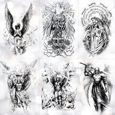 Křídlo Svatého Anděla Vodotěsné Dočasné Tetování Nálepka Statečný