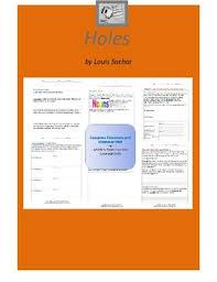 holes literature and grammar unit holes literature and grammar unit