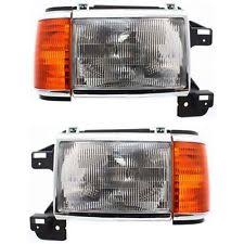 car truck headlights for ford f53 warranty headlight set for 87 91 ford f 150 f 250 driver and passenger side w bulb fits ford f53
