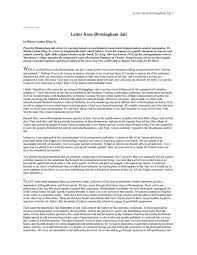 Essay Questions And Answers From Letter From A Birmingham Jail
