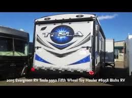 2016 evergreen rv tesla 3950 fifth wheel toy hauler 8958 bishs rv