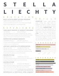 RESUME – Stella Liechty