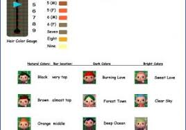 New Leaf Hair Color Chart Haircut Guide Acnl Skushi