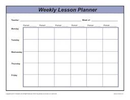 Lesson Plan Sheets Weekly Multi Period Lesson Plan Template Secondary