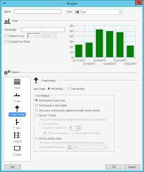 Chart Widget Define X Axis Sorting Options For A Chart Widget