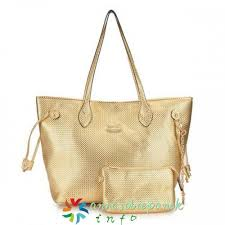Gold Coach City Knitted Medium Totes