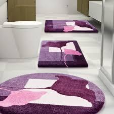 Purple Bathroom Accessories Set Luxury Bathroom With Dark Purple Bathroom Rug Set And Rectangular