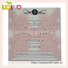 Online Shop Purple Pearl Paper Laser Cut Flower Wedding Card Design