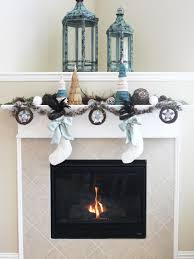 faux antlers centerpiece topping off the mantel design
