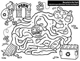 Free download 39 best quality recycling coloring pages at getdrawings. Recycling Maze Coloring Page Coloring Sky