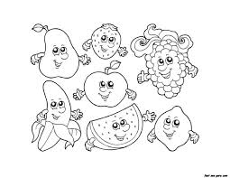 Coloring Pages Getcoloringpagescom Fruits For Kids