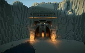 minecraft gate design. Simple Gate 2 Minecraft Mountain Cave Gate House Blueprints Stunning Design Ideas  On