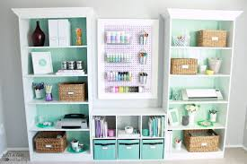 home office craft room ideas. Home Office Reveal At JustAGirlAndHerBlog.com Craft Room Ideas