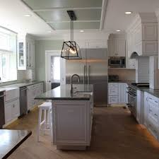Light Grey Kitchen Cabinets With Dark Countertops Ski House In