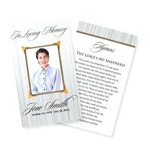 Funeral Prayer Cards Free Funeral Card Template Funeral Prayer Cards Catholic Free