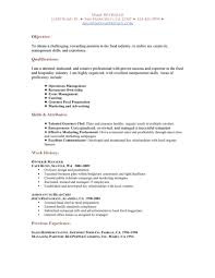 Hospitality Industry Resume Objective Free Resume Example And