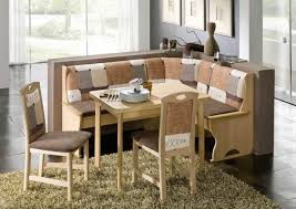 ... Dining Room Table, Charming Cream Rectangle Simple Wood Corner Booth  Dining Table With 2 Chairs ...