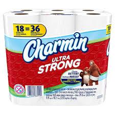 charmin bathroom tissue. Charmin Ultra Strong Toilet Paper (18 Rolls) Bathroom Tissue A