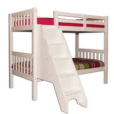 Twin Over Twin Bunk Bed With Stairs White