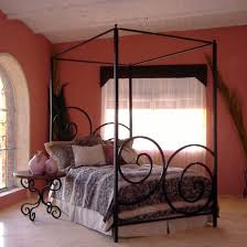 Bedroom: Black Canopy Bed Sets Features Black Iron Canopy Bed With ...