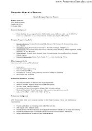 Machine Operator Job Description For Resume Computer Operator Cover Letter Images Cover Letter Sample 65