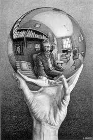 looking in mirror different reflection drawing. the impressive no camera selfie by alex sovertkov inspired m.c escher looking in mirror different reflection drawing n