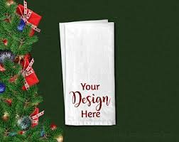 Are you stuck for what to write in christmas cards? Flour Sack Towel Mockup For Christmas Holiday Dishtowel Flat Lay Tea Towel Blank Free Packaging Mockups