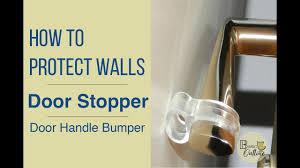 how to protect walls door stopper door handle per wall protector home improvement