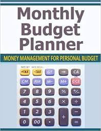 Monthly Budget Planner Money Management For Personal Budget
