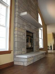 indoor stone gas fireplace