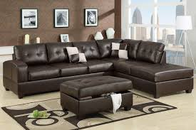 considering microfiber sectional sofa. Dark Brown Leather 2 Piece Sectional Sofa With Chaise For Modern Living Room Decorated Ottoman Considering Microfiber