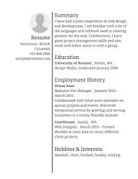 a resume layout