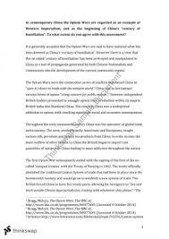 wsu arts study notes study guides questions problem sets opium war propaganda essay