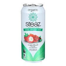 Steaz Lightly Sweetened Green Tea Amazon Com Steaz Lightly Sweetened Green Tea Super Fruit