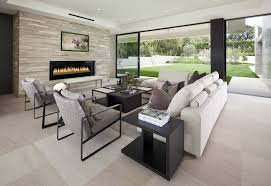 modern living room with brick fireplace. Image Of: Ultra Modern, Modern Living Room With Brick Fireplace