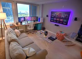 Living Room Pc Interior Best 40 Computer Gaming Room Ideas On Classy Living Room Pc