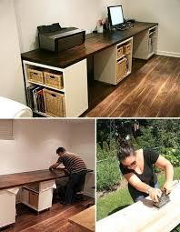 Aubrey & Lindsay's Beautiful DIY Basement Studio Desk