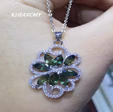 kjjeaxcmy boutique jewelry women s natural sapphire necklace pendants jewelry s925 sterling silver whole