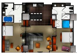 Las Vegas Hotels Suites 2 Bedroom Creative Plans