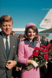 jfk years in office. President John F. Kennedy And His Wife Jackie, Just After Their Arrival At The Airport For Fateful Drive Through Dallas. Jfk Years In Office