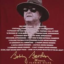 10, 2016 and bristol motor speedway played. Famous Football Coach Bobby Bowden Quotes Quotesgram